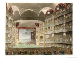 The Interior of the Theatre During a Performance of Shakespeares Coriolanus Premium Giclee Print by Thomas Rowlandson
