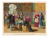 Columbus Agrees Terms with King Ferdinand and Queen Isabella Giclee Print by Planetta