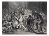 Wat Tyler is Killed by Sir William Walworth Giclee Print by J. Rogers