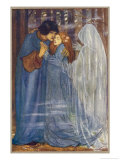 The Ghost of a Dead Lover Draws the Bride Away from Her Bridegroom Giclee Print by Florence Harrison