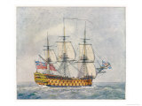 Warship of the British Navy Giclee Print by  Pollard