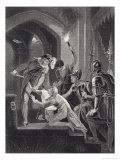 The Sixteen Year Old Prince Arthur is Murdered by His Uncle and Rival for Power King John Giclee Print by J. Rogers