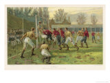 Scoring a Goal Giclee Print by Thomas M. Henry