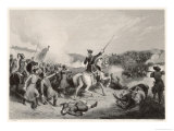 Battle of Poltava Peter the Great Defeats Charles XII of Sweden at Poltava Premium Giclee Print by W. Hulland