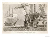 French Warships at Anchor Giclee Print by Morel 