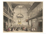 Service in the Roman Catholic Chapel Lincoln's Inn Fields London Giclee Print by Rowlandson & Pugin