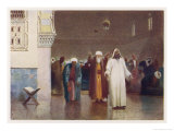 Egyptian Moslems at Prayer in a Mosque Giclee Print by R. Talbot Kelly