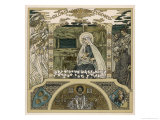 Mary and Jesus Watched by Angels on One Side Shepherds on the Other Giclee Print by Heinrich Lefler