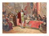 Columbus States His Proposals to the Royal Commission at Salamanca Giclee Print by Planetta