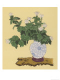 White Chrysanthemum an Autumn Arrangement Giclee Print by Koun Ohara