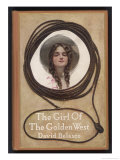 Minnie the Heroine Framed by a Lasso, Puccini Based His Opera on Belasco's Play Giclee Print by Jn Marchand