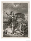 Patroclus Dons Achilles' Armour and Goes into Battle, Only to be Slain by Hector Premium Giclee Print by Henry Singleton