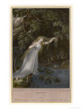 Hamlet, Ophelia Plunges into the Brook Giclee Print by James Parker