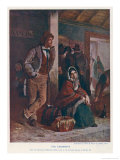 Irish Emigrants Waiting for Their Train Giclee Print by Erskine Nicol