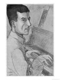 Maurice Ravel French Musician Depicted at the Keyboard Giclee Print by Ouvre
