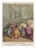He Blesses His Children Giclee Print by Eugene Ronjat