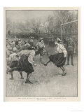 The First Match of the British Ladies' Football Club Reproduction procédé giclée par H.m. Paget