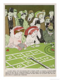 The Casinos Rake in the Money, But Still the Gamblers Keep on Coming Giclee Print by Raphael Kirchner