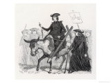 Catholic Missionaries Set out on Their Mission Giclee Print by Grandville