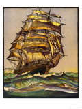 British Tea Clipper in Full Sail Giclee Print by  Jacques