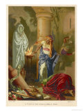 She Summons up the Spirit of Samuel at Saul's Request Giclee Print by Mampi