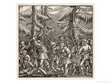 The Peasants Rise up and Revolt for the Abolition of Feudal Dues Serfdom and Tithes Giclee Print by Hans Luesselburger
