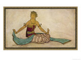Javanese Dancer Performing the Female Style in a Seated Pose Giclee Print by Tyra Kleen