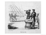 Ship's Compass on a French Warship Giclee Print by Charles Maurand