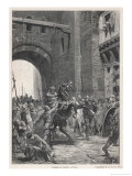 Alboin King of the Lombards Takes Pavia in the Course of His Invasion of Italy Giclee Print by Lodovico Pogliaghi