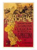 Puccini, la Bohème Reproduction procédé giclée par Adolfo Hohenstein