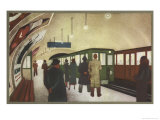 Une Station de Metro Giclee Print by R. Menager