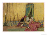 The Princess is Woken by the Prince's Kiss Giclee Print by Warwick Goble