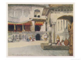 Sikh Temple Amritsar Interior of the Golden Temple Giclee Print by Mortimer Menpes