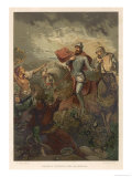 Macbeth, He Encounters the Witches Who Foretell His Destiny Giclee Print by R. Marti
