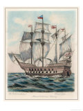The Ship of Sir Francis Drake Formerly Named Pelican Premium Giclee Print by Fred Law