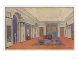 Salon for an Embassy Designed by Rapin for the International Decorative Arts Exhibition in Paris Giclee Print by Rapin