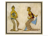Two Royal Court Dancers Performing the Female Style of Javanese Dance Premium Giclee Print by Tyra Kleen