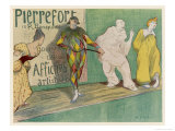 Poster Depicting Entertainers, Singers Commedia del Arte Giclee Print by H.G. Ibels