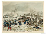 Battle of Mans-Champagne the Battle Taking Place on a Snow-Covered Plain Giclee Print by G. Koch
