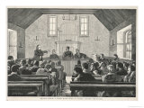 Skye Crofters Express Their Grievances in Glendale Church Giclee Print by Sidney Paget