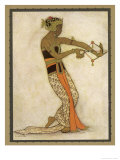 Javanese Dancer Drawing a Bow in a Highly Stylized Movement Premium Giclee Print by Tyra Kleen