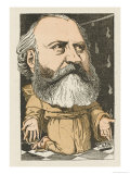 Charles Gounod French Musician and Composer: a Satirical Portrait Giclee Print by Moloch
