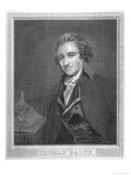 Thomas Paine Radical Political Writer and Freethinker Premium Giclee Print by William Sharp