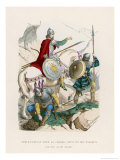 French Comte Sallies Forth to Make War Along with His Vassals Giclee Print by F. Philippoteaux