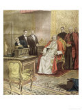 Pope Pius XI Listens to the Radio Broadcast of a Concert Giclee Print by Alfredo Ortelli