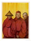 Tibetan Red Lamas Giclee Print by Henry Savage Landor