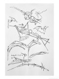 Sketches of Flying Machines Premium Giclee Print by  Leonardo da Vinci