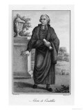 Etienne Bonnot de Condillac French Philosopher Giclee Print by Rados