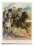 Confederate General J.E.B. Stuart Leads His Spectacular Raid Around the Union Forces Giclee Print by H.a. Ogden