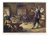 Dutch Governor Jan Van Riebeeck Entertains the Native Hottentots on the Claversingel Giclee Print by J.r. Skelton